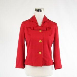 Red CABI Love Carol 3/4 sleeve blazer jacket size2